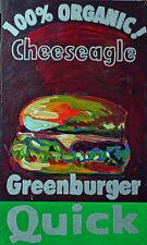 Gugli (1959) acrylique sur toile intitulée Cheeseagle dimensions 50 x 30 cm