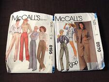 McCall's patterns #8195 & #8970 ladies pants
