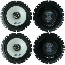 """4 - ALPINE SXE-1725S 6.5"""" 2-WAY 220 WATT MAX COAXIAL CAR SPEAKERS DOME TWEETERS"""