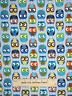 FLANNEL ~ Owl Birds Blue Cotton Fabric ~Timeless Treasures CF8366 By The Yard