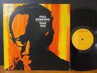 Paul Desmond - Take Ten Vinyl LP Jim Hall Connie Kay Japan Import