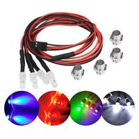 4PCS 5mm Headlights LED Lights Kits Mount for RC Drift Car Vehicle Model Part❤Ho