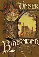 Unser Bayernland Bayern Blechschild Schild gewölbt Metal Tin Sign 20 x 30 cm