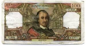 100 francs CORNEILLE   C 849