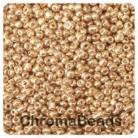 100g BRONZE METALLIC glass seed beads - choose size 6/0, 8/0, 11/0 (4,3,2mm)