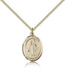 """Saint Patrick Medal For Women - Gold Filled Necklace On 18"""" Chain - 30 Day Mo..."""