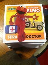 SESAME STREET IN SPANISH---LOS OFICIOS DE ELMO---DOCTOR--NEW IN PLASTIC
