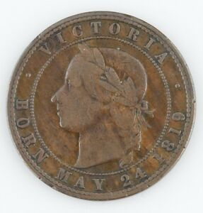 1874 NEW ZEALAND PENNY TOKEN VERY FINE COIN