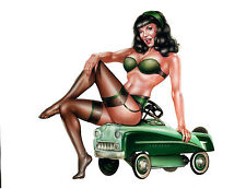 """Hot Rod Bettie"" Limited Edition Bettie Page Litho - signed and numbered"
