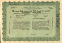Mexican Telephone and Telegraph Company > stock certificate Mexico pref. share