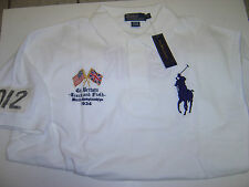 """BIG MENS RALPH LAUREN """"GREAT BRITAIN LG PONY CROSSED FLAGS S/S POLO SIZE 4X $155"""