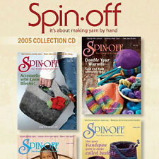 4 Issues on CD: SPIN-OFF MAGAZINE 2005 Spinning Yarn Short Draw Lambswool Bison