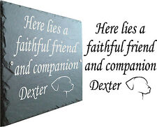 Memorial Slate Sign Plaque - Personalised for your Dog - Grave Marker