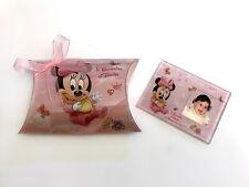Bomboniere battesimo magnete minnie personalizzato con foto compleanno