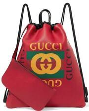 51a85502c02c NEW GUCCI CURRENT GUCCI PRINT VINTAGE LOGO LEATHER BACKPACK SHOULDER TOTE  BAG