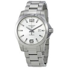 Longines Conquest Silver Dial Stainless Steel Ladies Watch L37604766