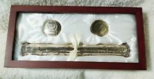 Stephan Baby Keepsake Rosewood & Silver Plated Birth Certificate + Memory Set