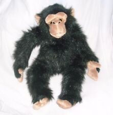 "13"" PLANET LOVE EARTH BLACK CHIMPANZEE MONKEY GORILLA STUFFED ANIMAL PLUSH TOY"