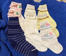 Vintage Box of 6 Pair 1960's Baby Girl Little Girl Socks