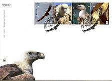 Croatia 2017 FDC Griffon Vulture WWF 4v Strip Cover Vultures Birds Stamps