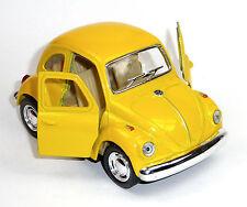 VW Käfer (1967) KINSFUN Modellauto Spritzguss ca. 9,6cm in gelb KINSMART