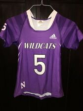 Northwestern University Wildcats Game Worn Lacrosse Jersey Adidas #5 WM FOX