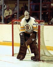 NHL 1970's Goalie Gerry Cheevers Boston Bruins Game Action Color 8 X 10 Photo