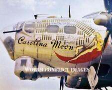 USAAF WW2 B-17 Bomber Carolina Moon 8x10 Color Nose Art Photo 490th BG WWII