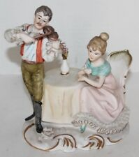 Vtg Porcelain Hand Painted Lenwile China Ardalt Music -Couple, Man Serenading
