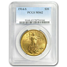 1914-S $20 Saint-Gaudens Gold Double Eagle MS-62 PCGS - SKU #8644