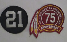 WASHINGTON REDSKINS SEAN TAYLOR PATCHES - #21 & 75TH ANNIVERSARY JERSEY PATCH