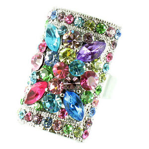 Long Bollywood Flower Ring MORE COLOURS AVAILABLE