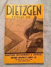 Dietzgen Catalog 22D: Drafting Materials - 1948 - Softback Book - Instruments