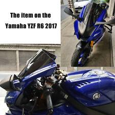 For 2017 - 2019 2020 Yamaha YZF 600 R6 Windshield WindScreen Smoke Black Iridium