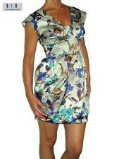 Satin Cap Sleeve Wiggle, Pencil Floral Dresses for Women