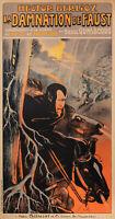Original Poster - Georges Dola - Faust Damnation - Music Hall - Berlioz - 1893
