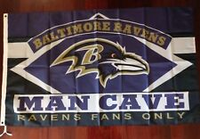 Baltimore Ravens Man Cave 3x5 Flag. US seller. Free shipping within the US