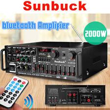 Sunbuck 2000W bluetooth HiFi Verstärker FM-Radio 4Mic MP3 Power Stereo Amplifier