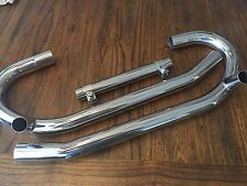 VINTAGE BMW R50/5-R100 BEAUTIFUL POLISHED STAINLESS STEEL EXHAUST  PIPE  SET