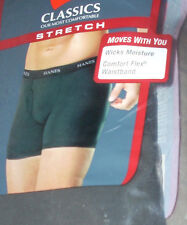 "NWT ~ $38 LOT 4 Hanes PREMIUM Mens BOXERS 30"" NEW PERFORMANCE Moves 4 Pk Sz S"