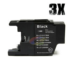 3x Inks LC73 LC77 LC40 Black for Brother DCP J525W J725DW MFC J6510 J9610 J5910
