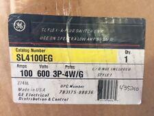 NEW - GE SL4100EG 100 AMP 600V 3PH 4W Spectra SL Flex-A-Plug Switch