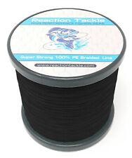Reaction Tackle High Performance Braided Fishing Line / Braid - NO FADE Black