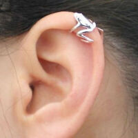 FP- KQ_ FT- Unique Women Frog Ear Cuff Clip No Piercing Earrings Punk Jewelry Bi