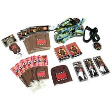 Lot 22 Domo Domokun Air Fresheners Coaster Key Cap Lanyard Decal Playing Cards