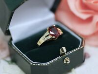 Vintage Jewellery Gold Ring Antique Art Deco Jewelry Size 9 R