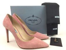 PRADA Pointy Toe Pink Suede 100mm Pump 38.5/8.5