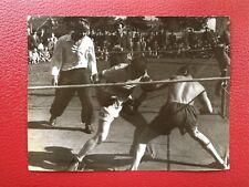 VINTAGE SOVIET PHOTO 1950's USSR URSS STADIUM SPORT BOXE RING