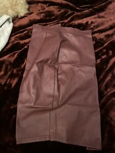Women's Missguided Faux Leather Skirt Red Size 8