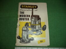 """1959 Stanley Tools """"Operation of The Modern Router"""" Booklet - 36 pages"""
